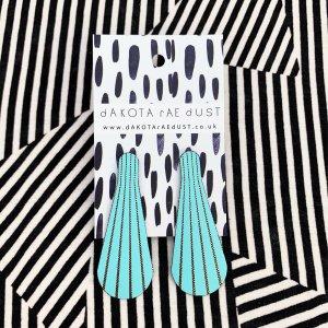Light blue stud earrings